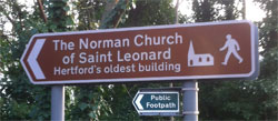 Sign to St. Leonard's Church on Port Hill